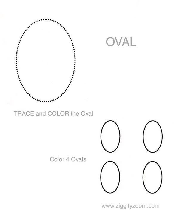 Shapes worksheet Oval Tracing shapes Shapes worksheets and