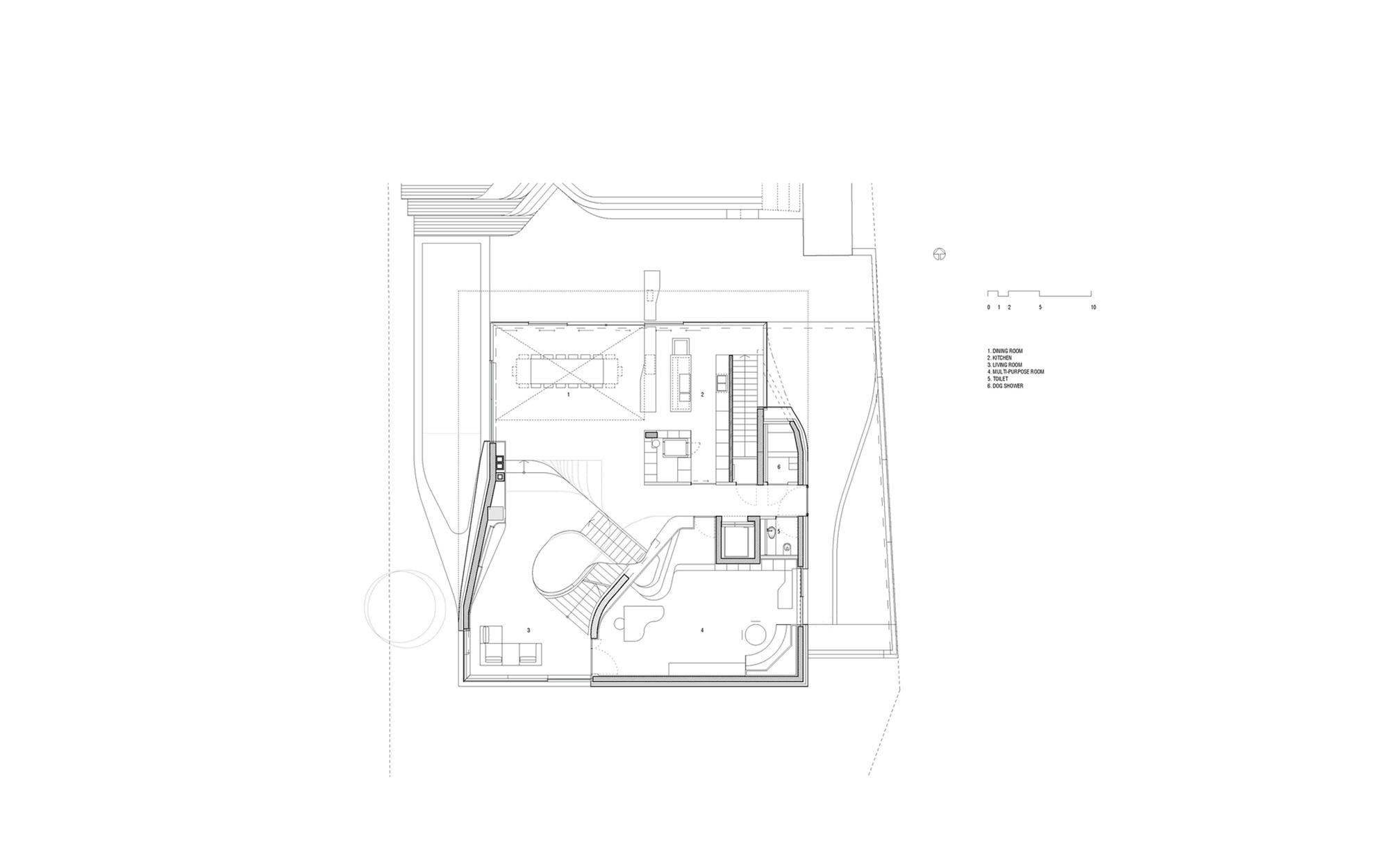 UNStudio Haus am Weinberg Floorplan Haus, Un studio