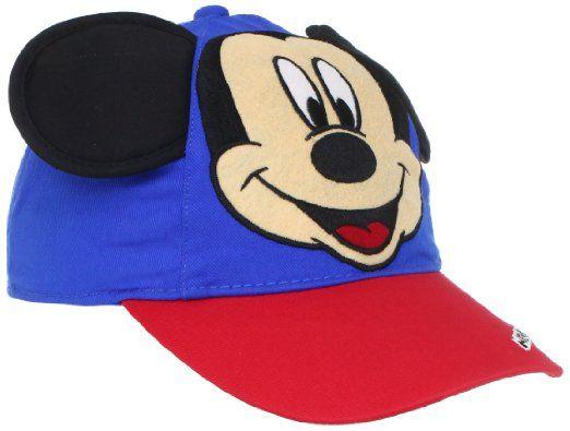 Amazon.com  Disney Boys 2-7 Mickey Mouse Hat With Ears 0df63a3d2852