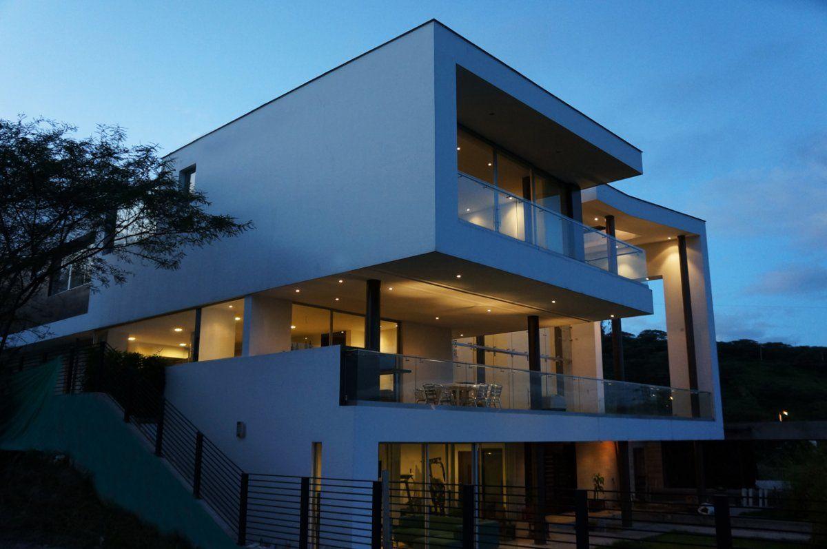 ...and by night.   Najas Arquitectos have designed the Casa Hacia el Río in Quito, Ecuador.