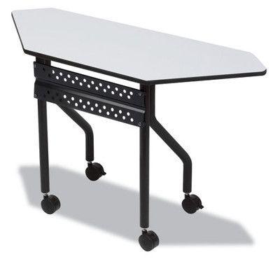 Iceberg Enterprises Officeworks Trapezoid Training Table Color: Mahogany, Size: 42'' x 18''