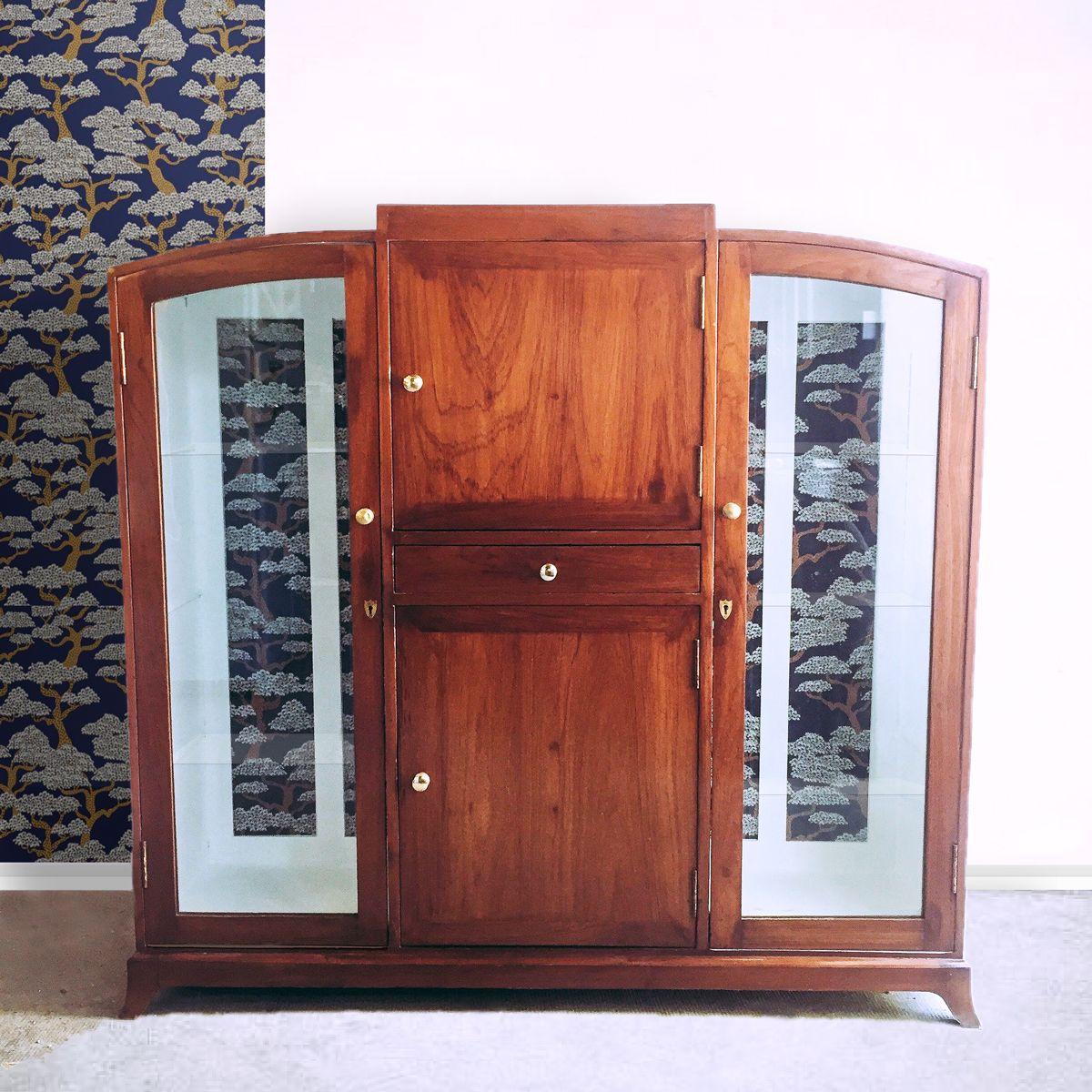 Vitrine Art Deco 380 Jolie Vitrine Art Deco Style Moderniste En Acajou Fabrique En Inde Dans Les Annees 30 L Int Meubles Art Deco Relooking Meuble Deco