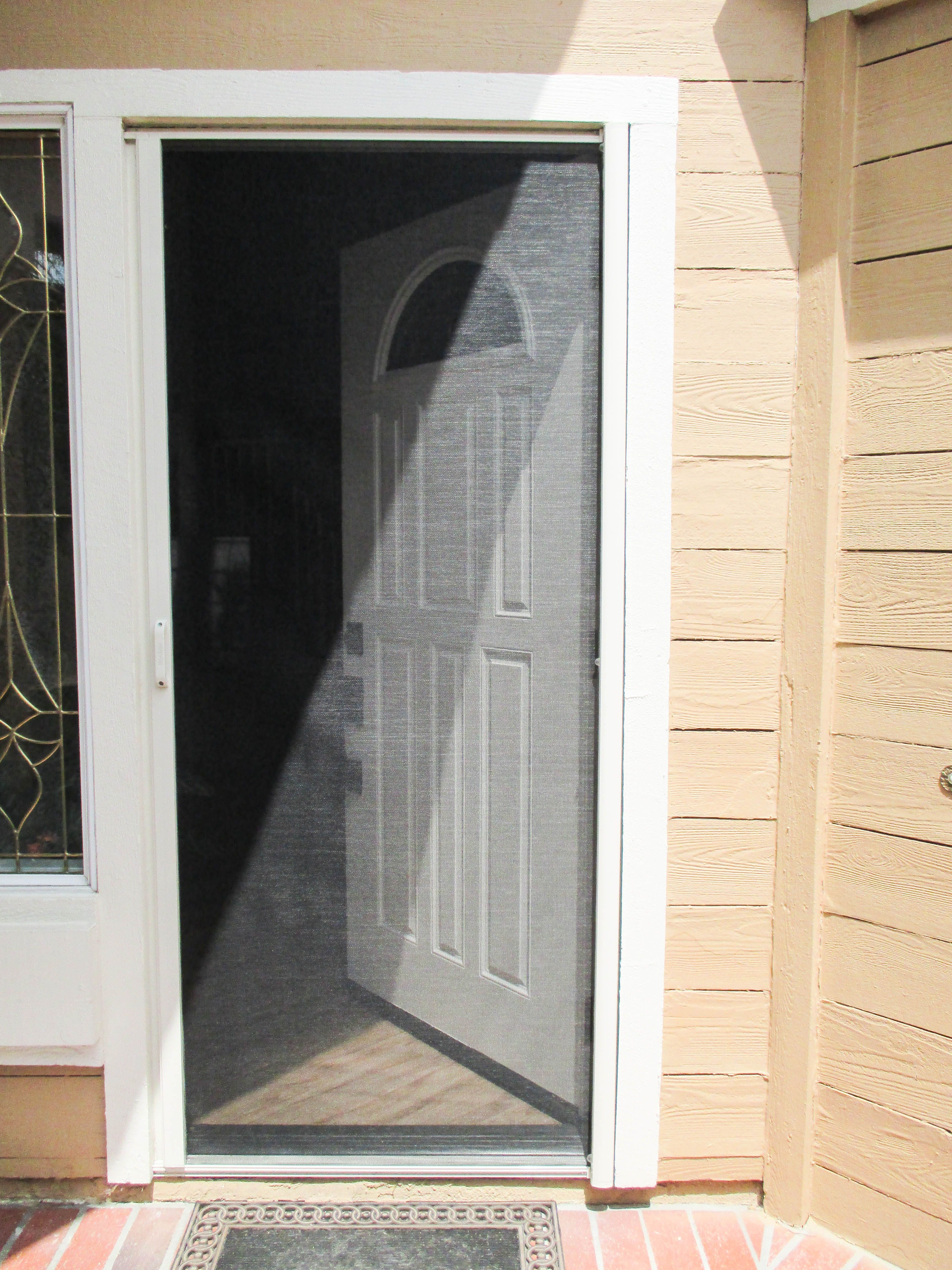 Our Team Installed This Stowaway Retractable Screen Door With A