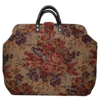 Victorian Floral Tapestry Carpet Bag Perfect For A