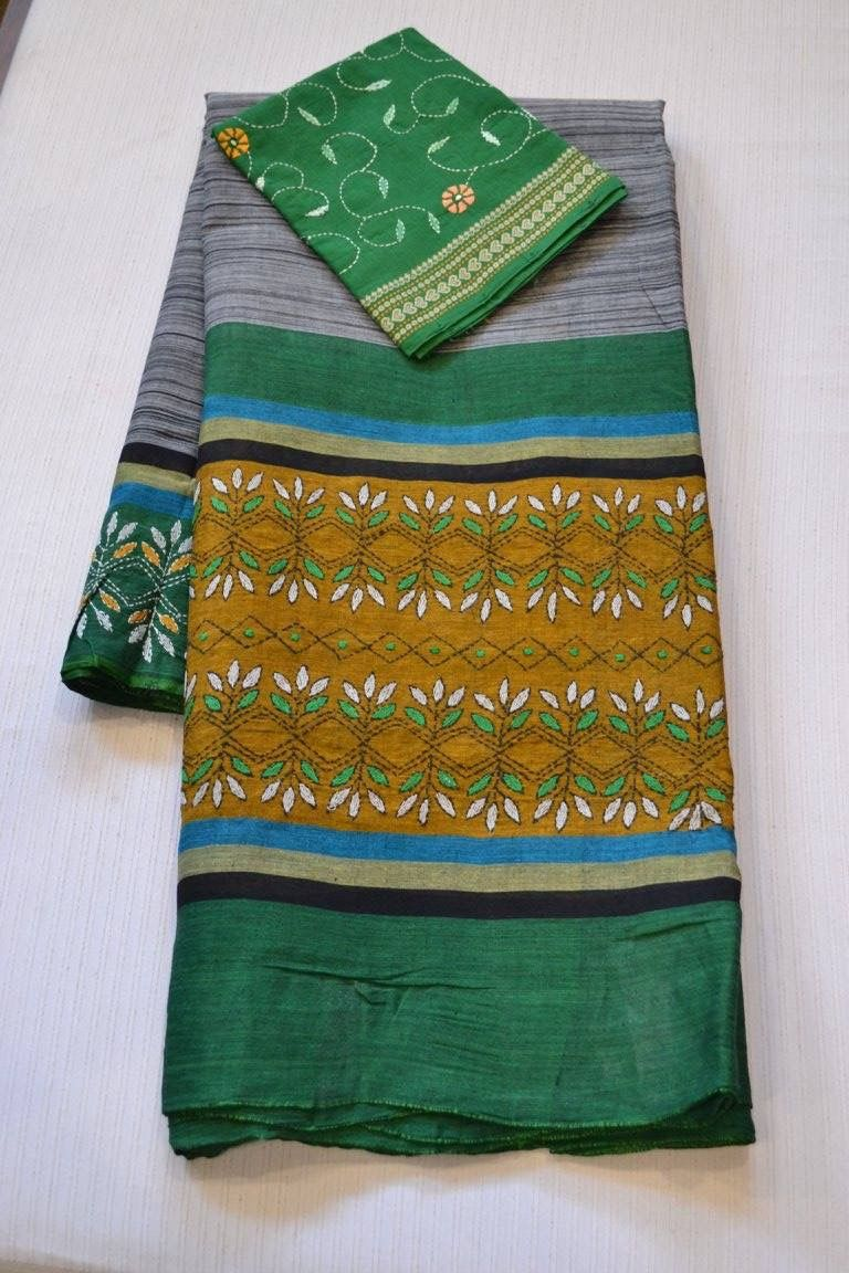 Pin by sumana upadhyaya on kantha work pinterest embroidery embroidery stitches embroidery patterns hand embroidery punjabi suits saris needlepoint patterns embroidery designs saree sari dress bankloansurffo Images