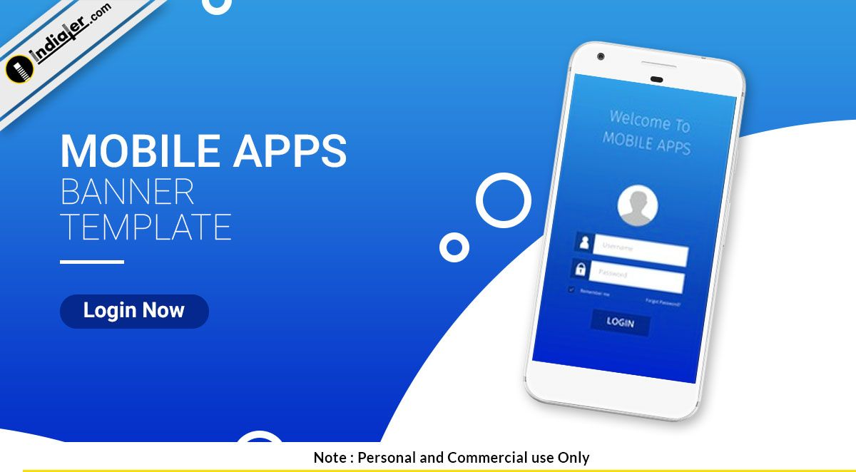 Free Mobile App Promo Banner PSD Template Psd templates