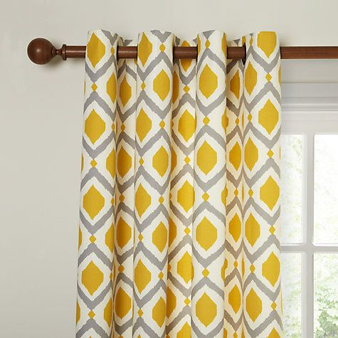 Buy John Lewis Indah Lined Eyelet Curtains Online At Johnlewiscom - John lewis curtains grey
