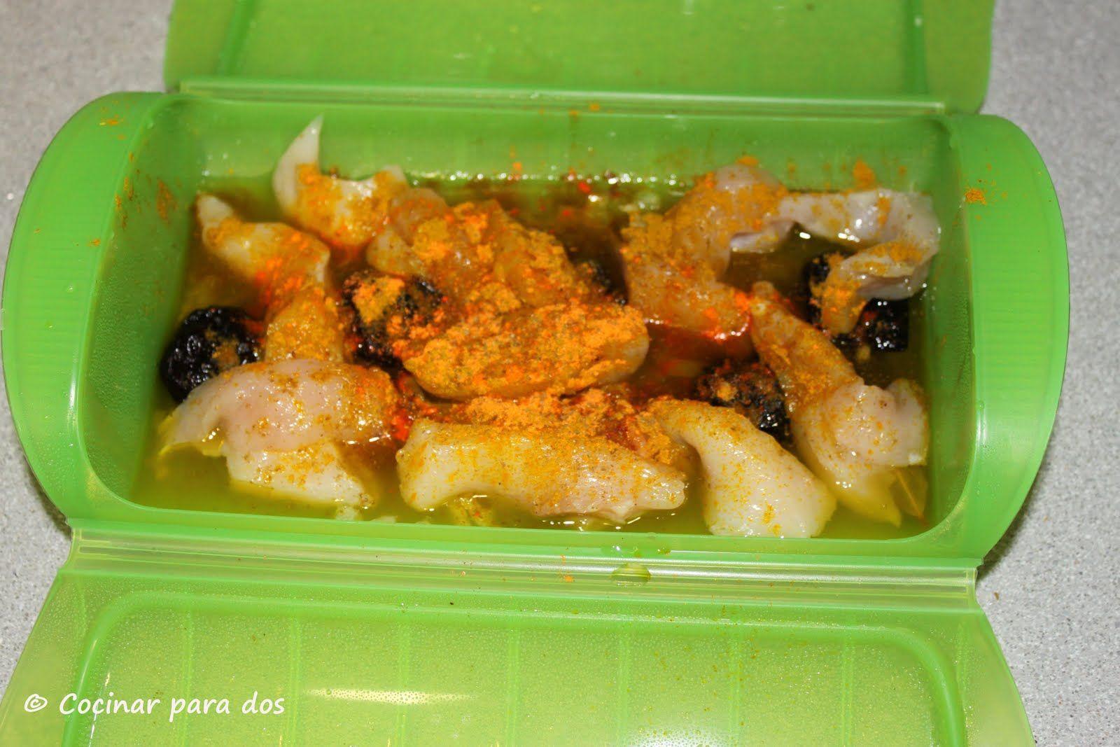 Pollo al curry estuche de vapor l ku y convencional - Asador al vapor lekue ...