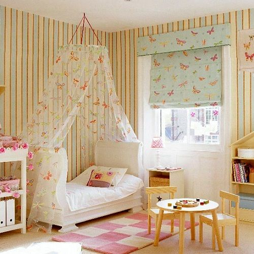toddler girl room with canopy bed Decorative Bedroom & toddler girl room ideas...but not butterflies...more like woodland ...