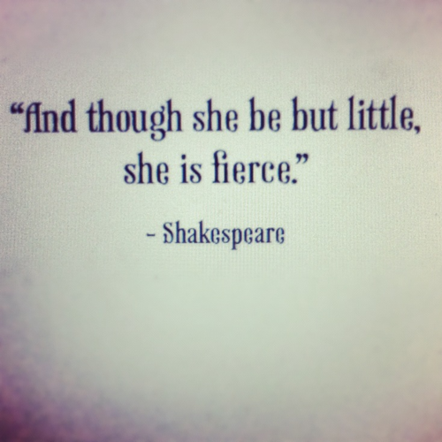 Shakespeare speaks to me....