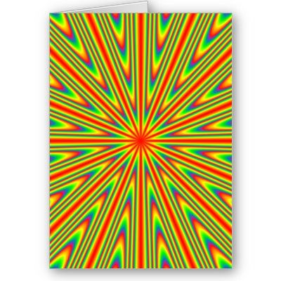 Solar Burst Greeting Cards #gifts #psychedelic #abstract