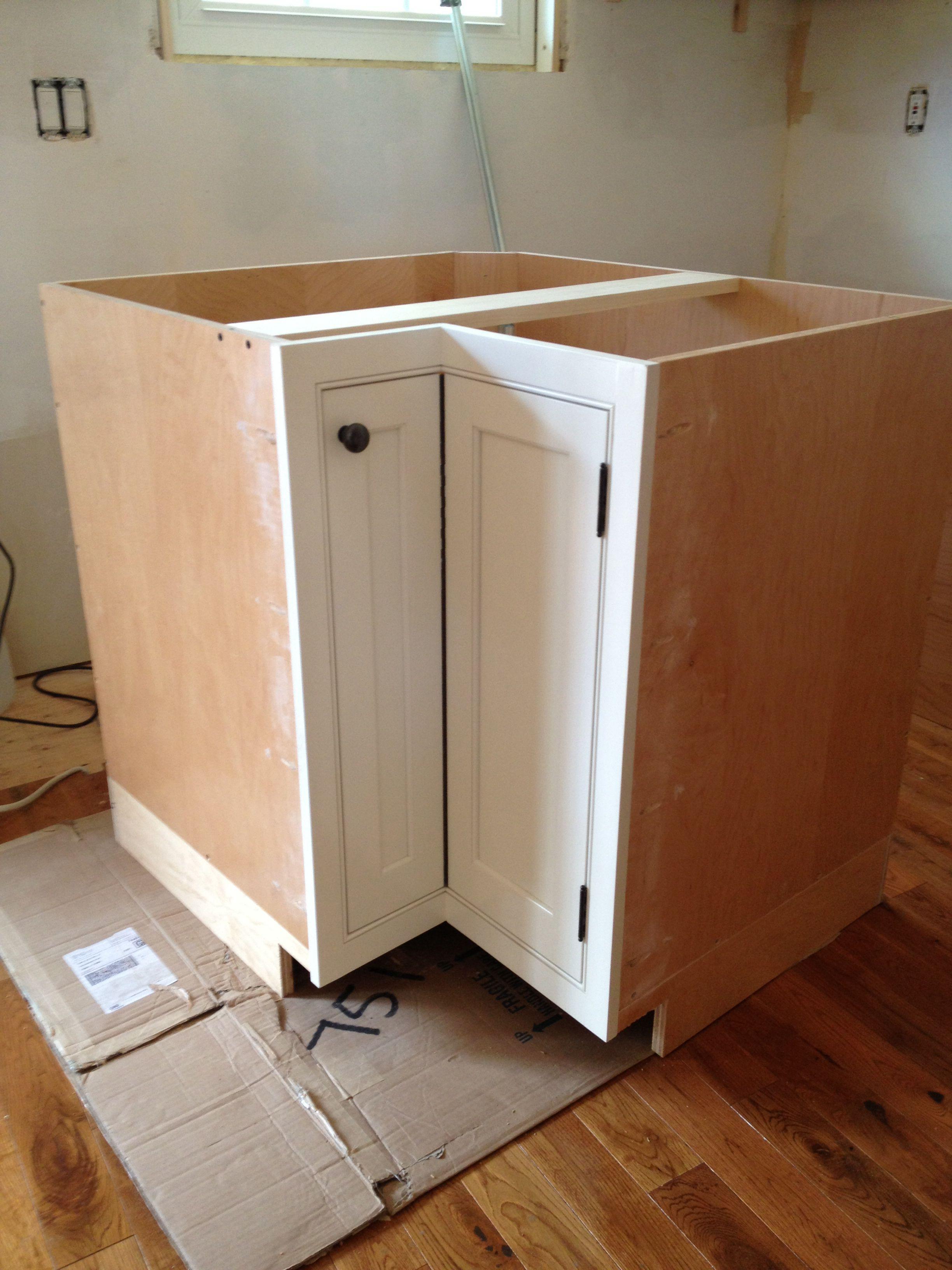 corner cabinet for kitchen scoop with inset door and piano hinge new