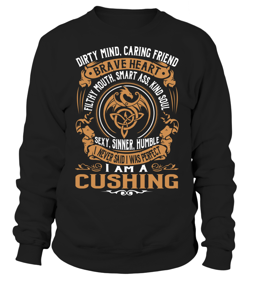 CUSHING Brave Heart Last Name T-Shirt #Cushing