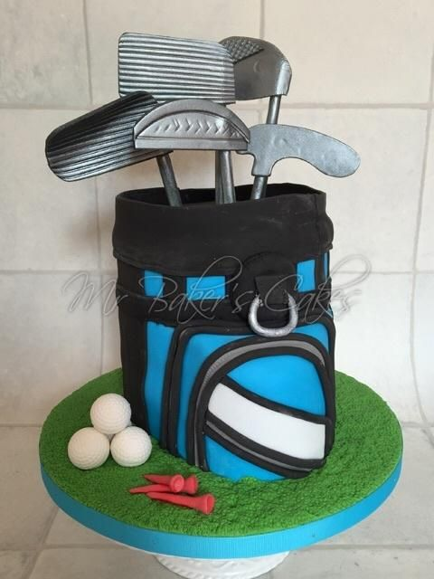 Golf Bag Cake By Mr Baker S Cakes Baker Cake Golf