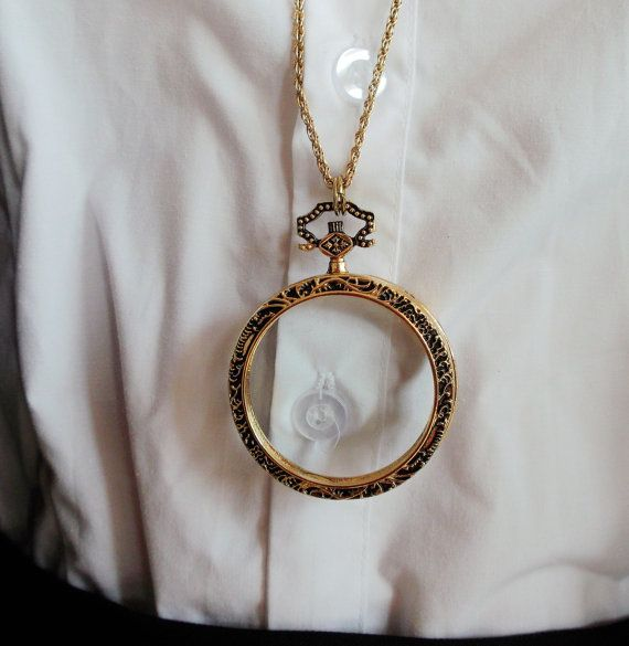 Magnifying Glass Necklace Pendant Monocle Magnifying Glass Necklace Pendant  500-001   Reine et Lunettes f8556f2fccc4