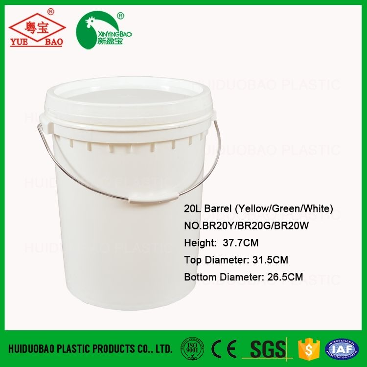 5 Gallon Plastic Paint Pail With Metal Handle And Lid Plastic Bucket With Lid Plastic Pail Plastic Buckets