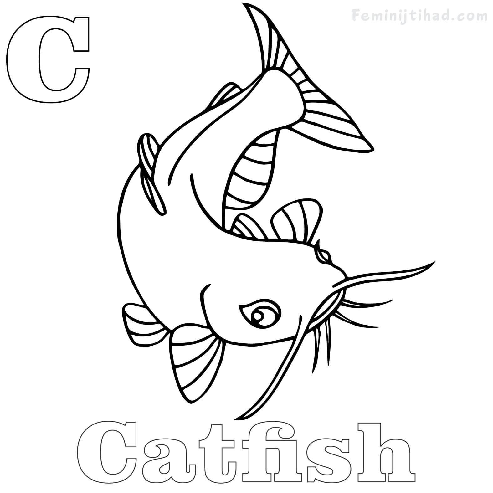 Catfish Coloring Pages Printable For Free Free Coloring Sheets Coloring Book Pages Coloring Books Coloring Pages