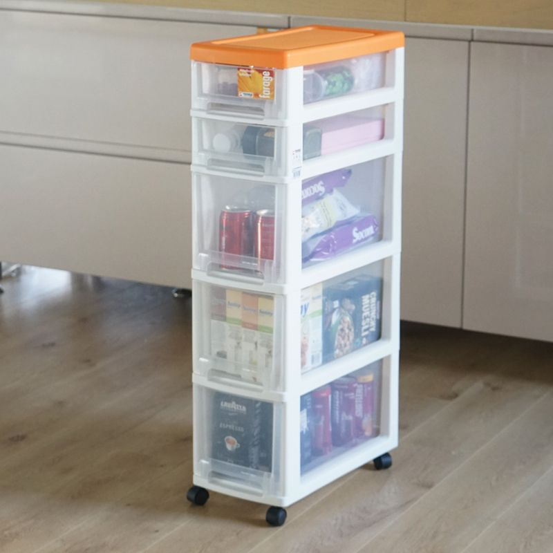 22cm ultra-narrow gap narrow belt pulley plastic five-drawer storage cabinet slot cabinet Pegasus Tenma