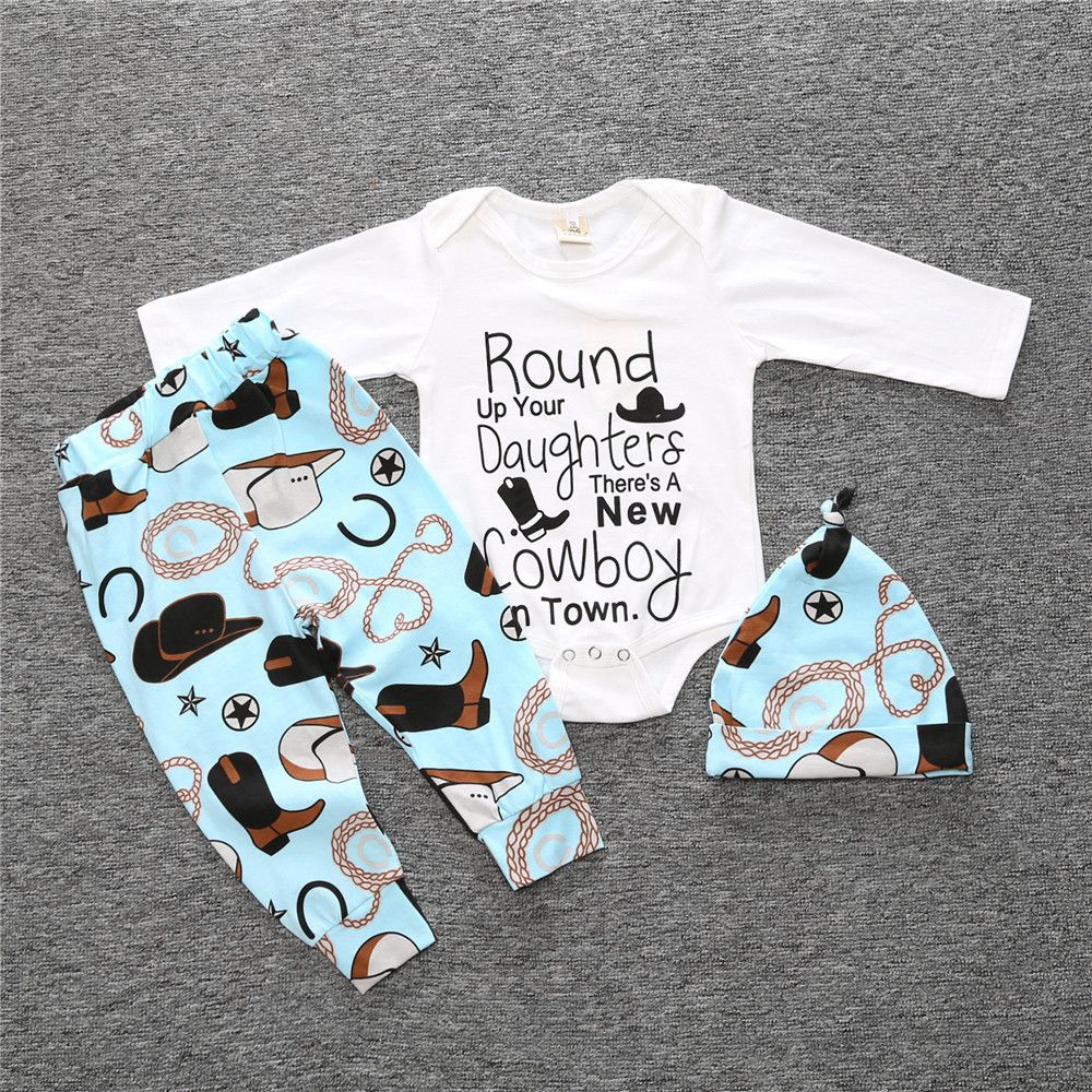 80195b828c97 Click to Buy    INS 2017 autumn new long-sleeved suit baby infant ...