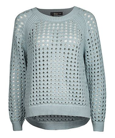Look what I found on #zulily! Mint Sheer Mesh Raglan Sweater by Dex #zulilyfinds
