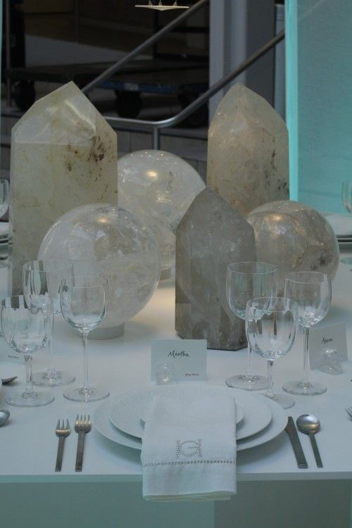 8 Fantasy Dining Room Designs Crystal Centerpieces Crystal Decor Large Crystals