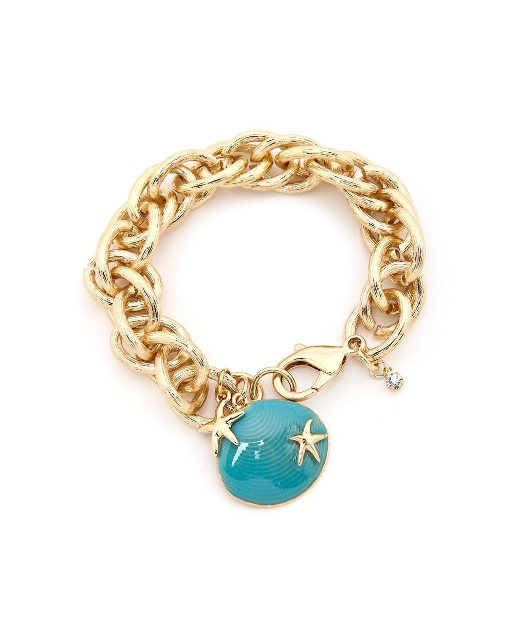 So Chic Seashell Charm Bracelet #shoplately