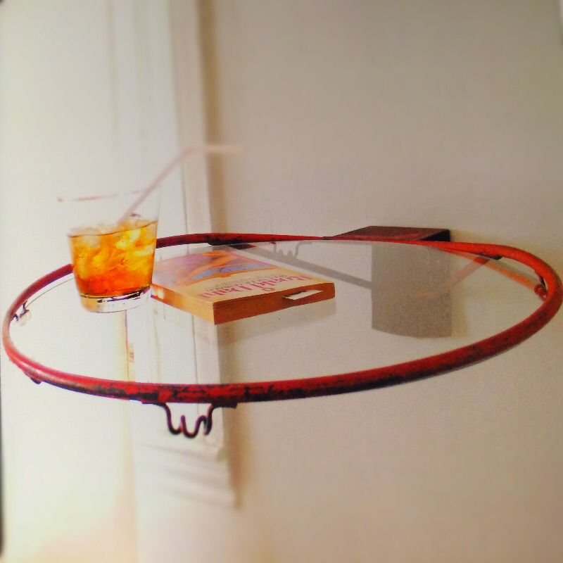 Basketball Hoop Side Table From Tossed & Foundlinda & John Enchanting Basketball Hoop For Bedroom Design Decoration
