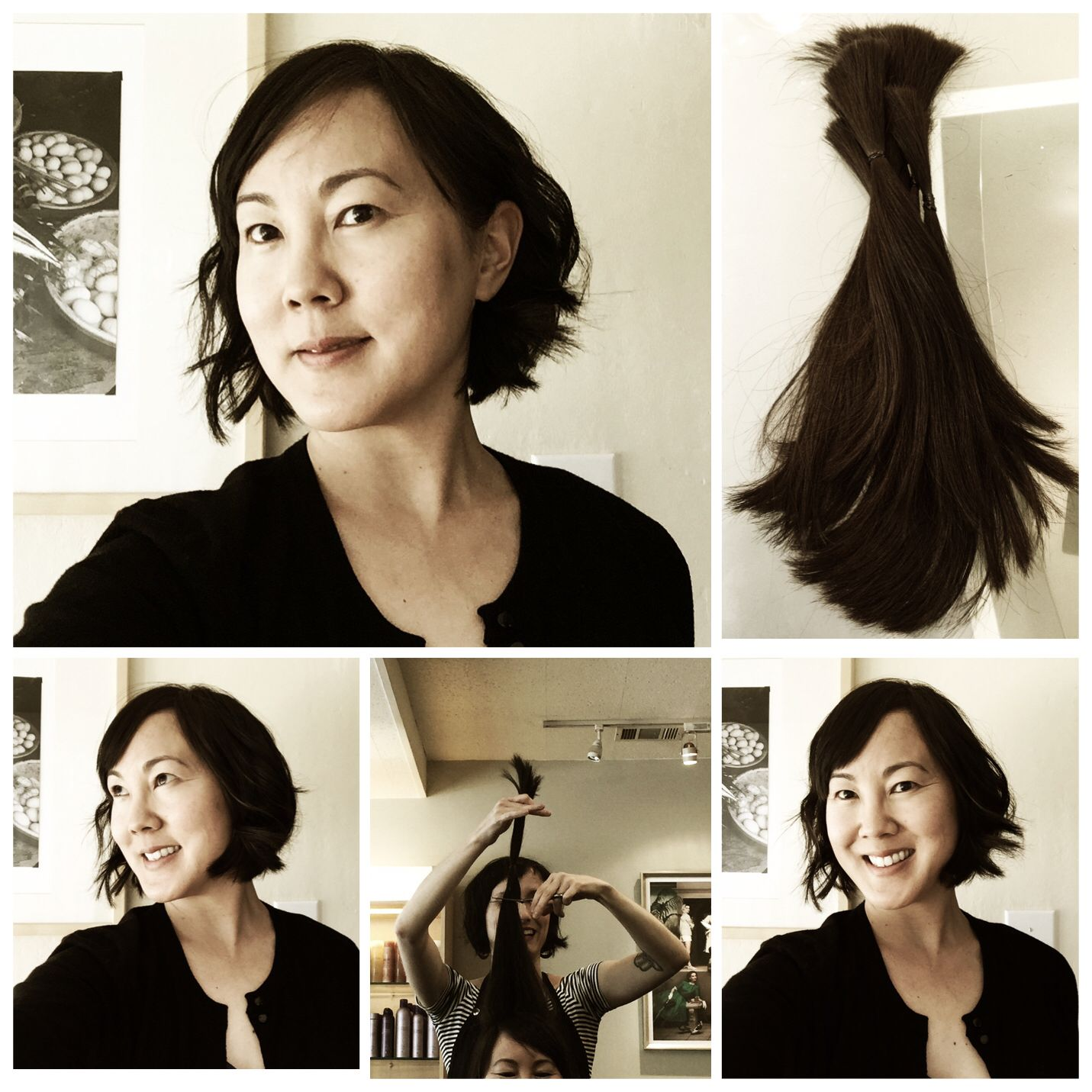 Locks for Love haircut! From long boho waves to a short sassy wavy bob, this is how to do the new look for fall!