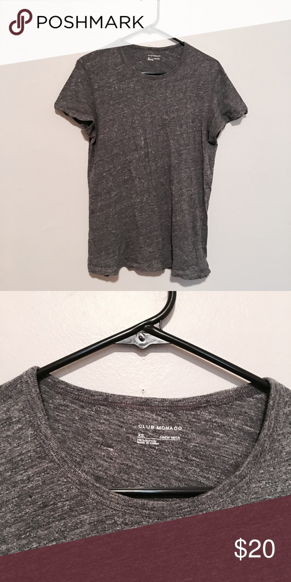 Club Monaco crew neck tee Club Monaco / Size: men's xs / Grey crew neck tee / Worn once and in new condition Club Monaco Shirts Tees - Short Sleeve