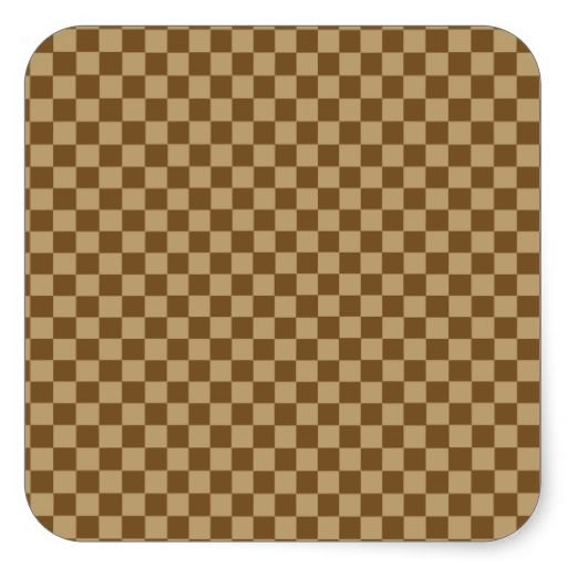 Brown Combination Diamond-Checkerboard Square Stickers. Thank you to the customer and referrer! #zazzle
