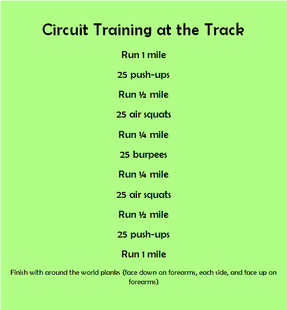 Circuit Training / Circuit training at the track / circuit ...