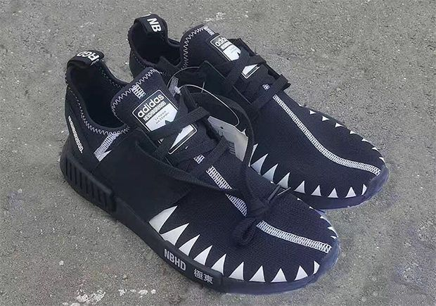 167785e6f Japan s own NEIGHBORHOOD is rumored to have another adidas NMD  collaboration in the works featuring black boost and an aggressive shark  tooth pattern. More