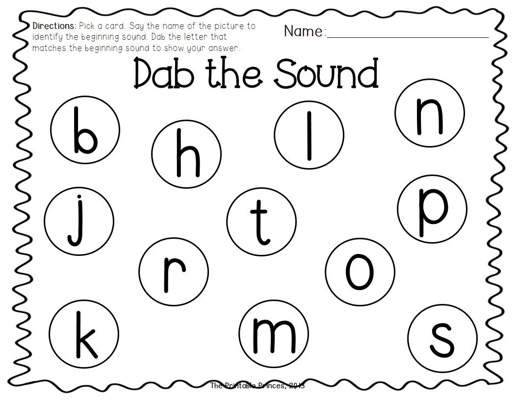 A Dab Of Learning Freebie 2 Activities Beginning Sounds