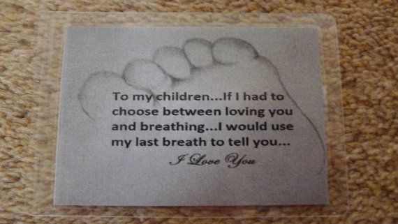 Laminated Wallet Size Inspirational Quote/Message Keepsake Cards -  To My Children on Etsy, £2.50