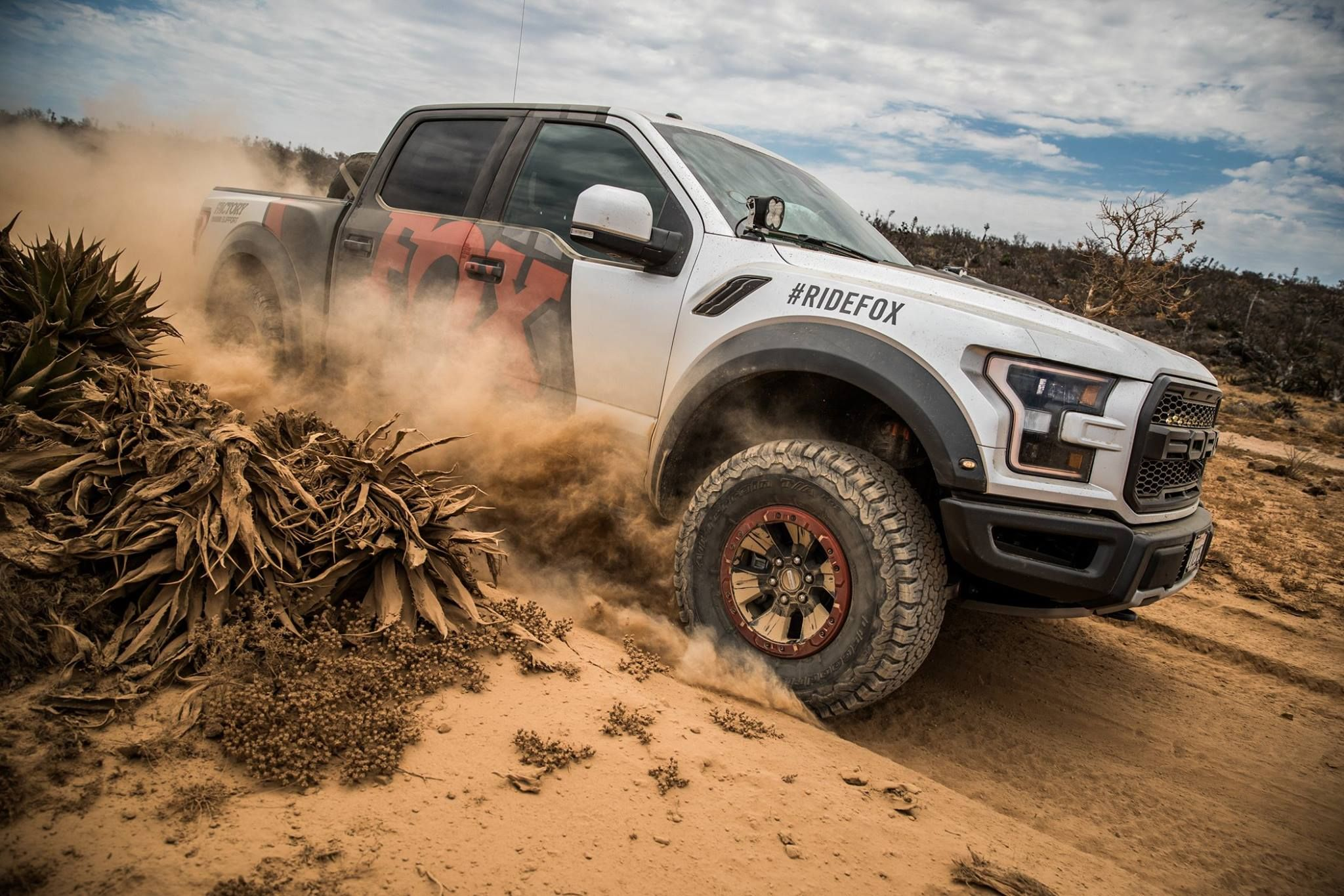 Fox's 2017 Ford Raptor tearing it up in Baja for the Trail