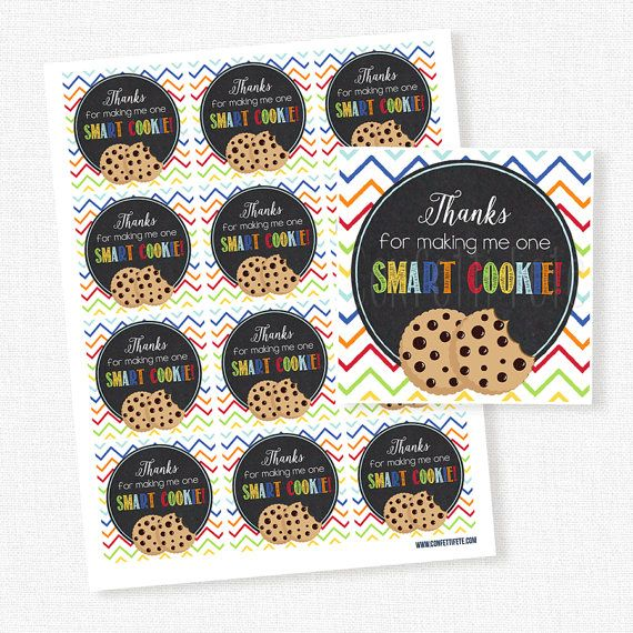 image about Thanks for Making Me One Smart Cookie Free Printable named Due For Generating Me A single Intelligent Cookie Tag, Instructor