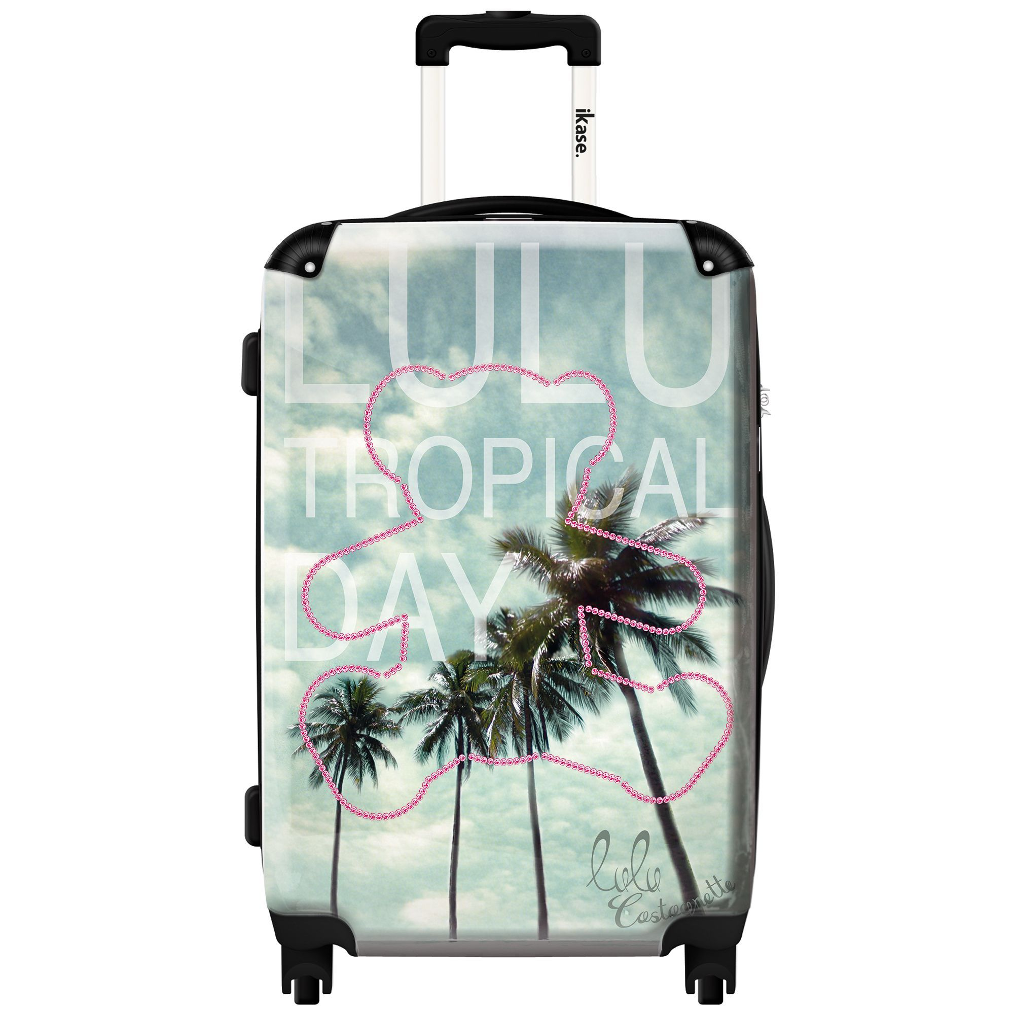 0edea03ef iKase 'Lulu Castagnette Tropical' 24-inch Fashion Hardside Spinner Suitcase