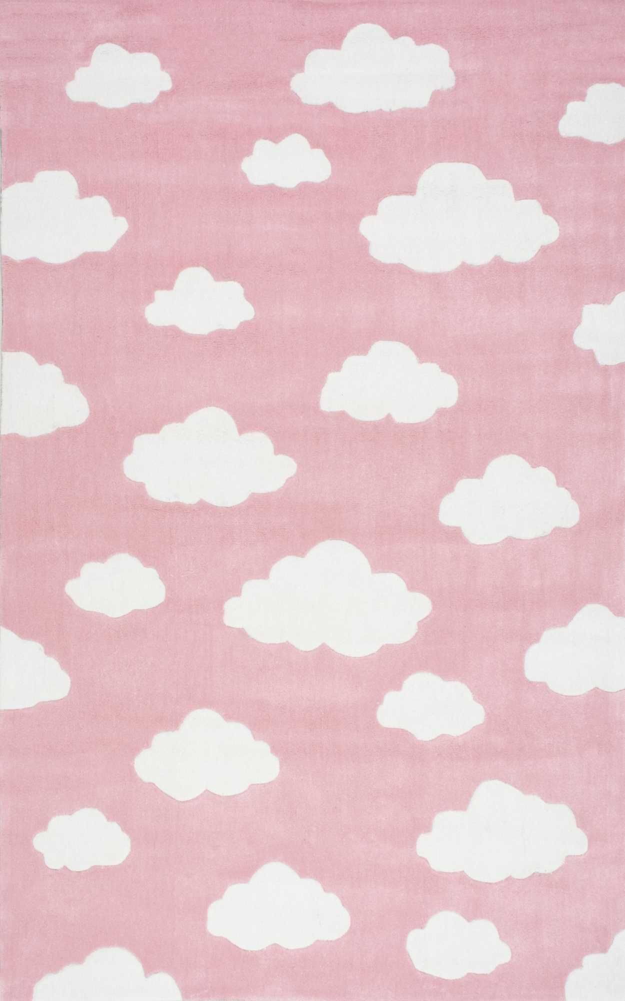 Serendipity Cloud Pink Rug Cloud Rug Pink And Blue Rug Iphone Wallpaper