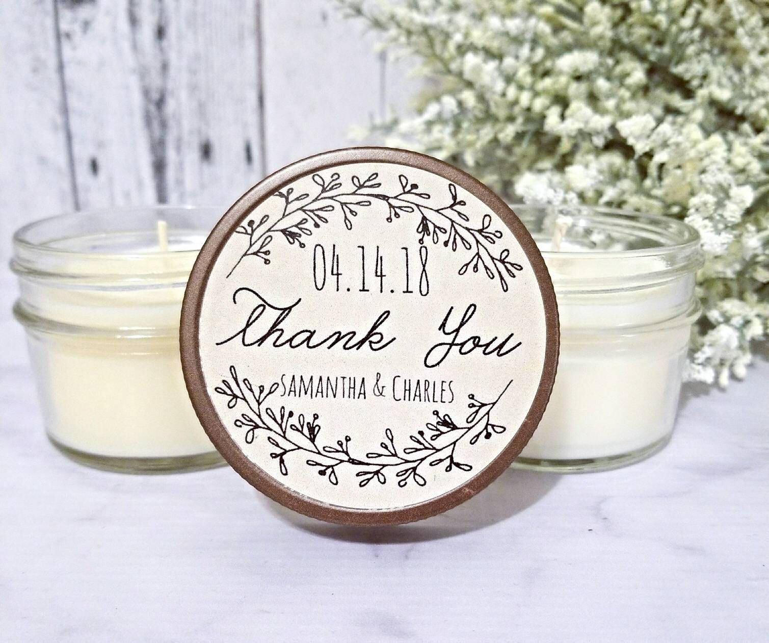 Rustic Wedding Favors - Wedding Rustic - Wedding Candle Favors ...
