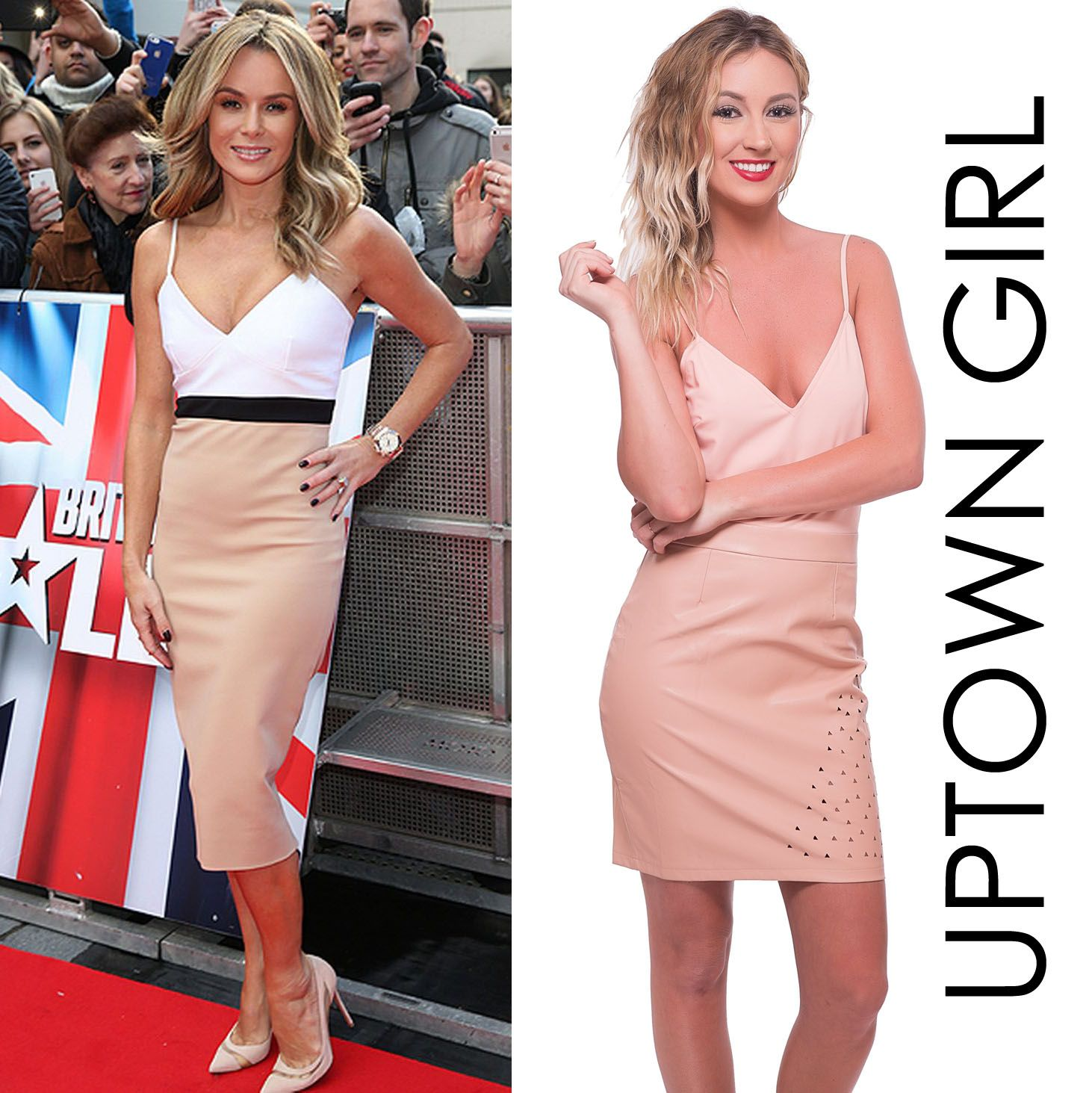 Left: Amanda Holden (Britain\'s Got Talent) Right: Cut Out and About ...