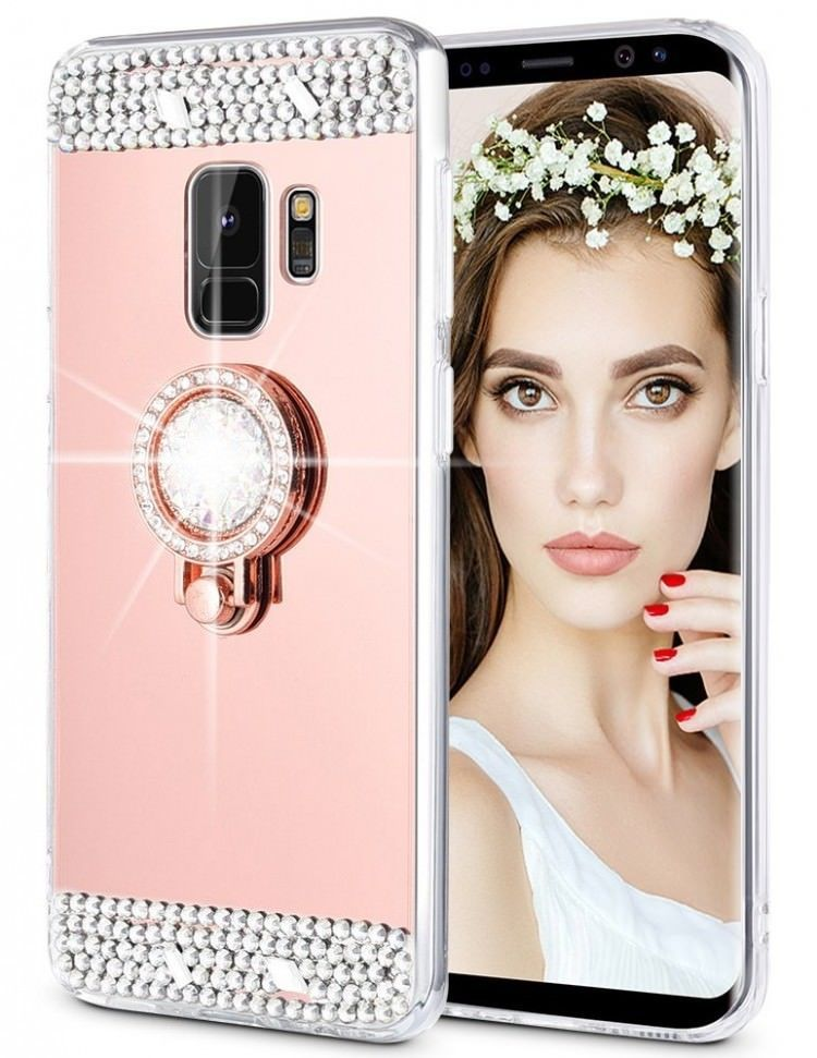 new style 8326f aa393 Samsung Galaxy S9 Case Ring Kickstand Diamond Crystal Protective TPU ...
