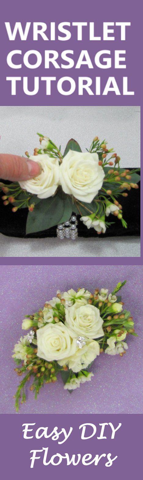 How to Make a Wrist Corsage - Free DIY Wedding Flower Tutorials ...