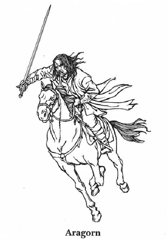Lord of the Rings Coloring Pages 6 | Lord of the Rings | Pinterest ...
