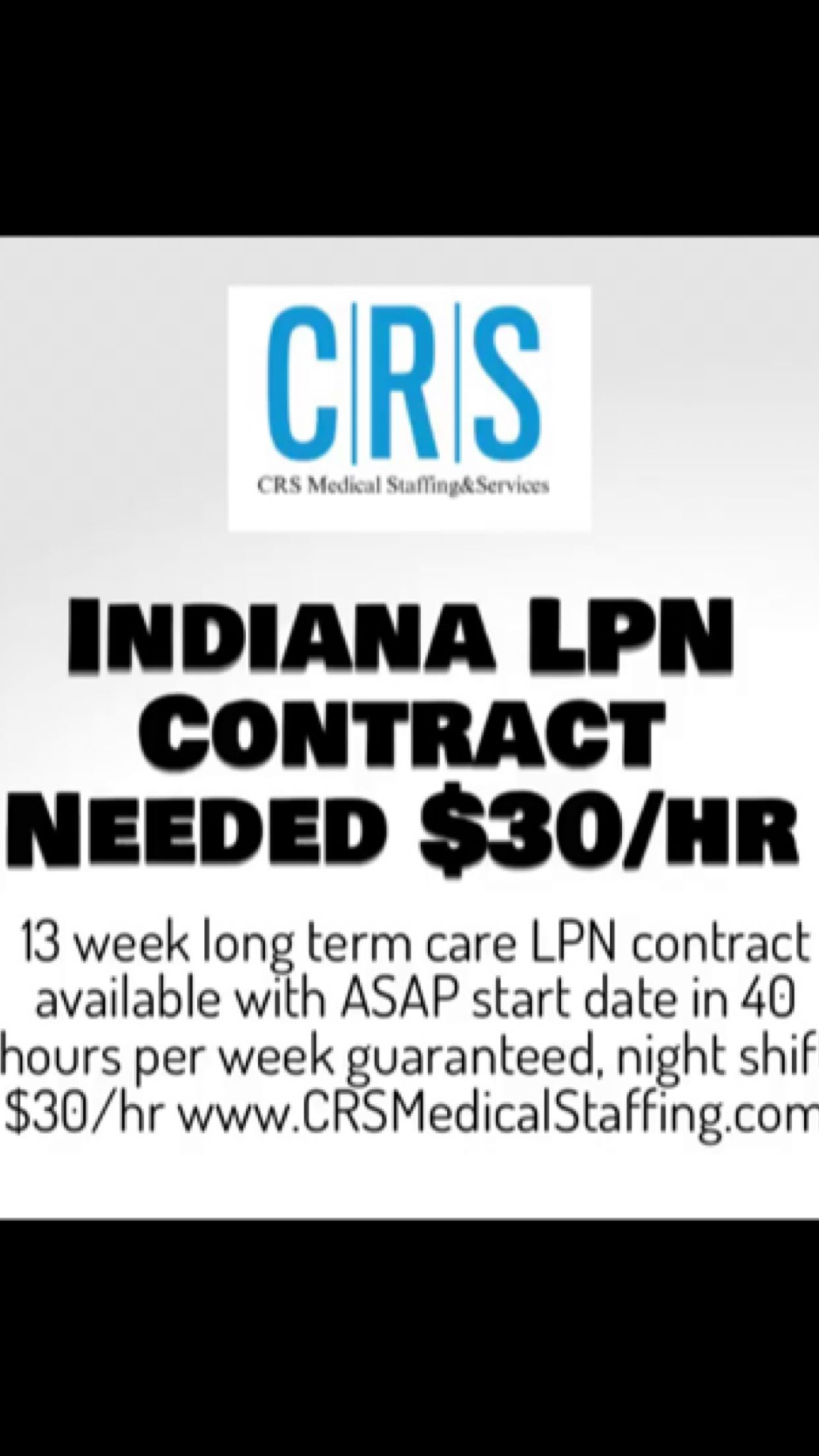 Pin by CRS Medical Staffing & Services LLC on CRS
