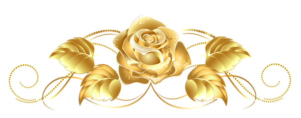 Beautiful Gold Rose Decor PNG Clipart | Clipart | Pinterest