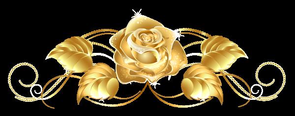 Beautiful Gold Rose Decor PNG Clipart   Clipart   Pinterest