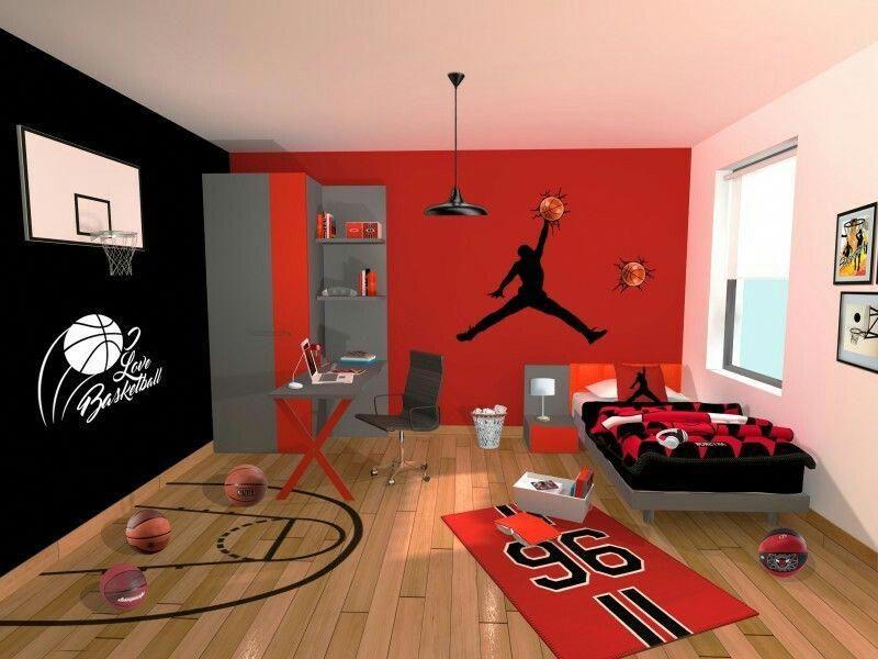 Good Looking Keyword Tweenboysbedroom Basketball Theme Room Basketball Room Room Ideas Bedroom