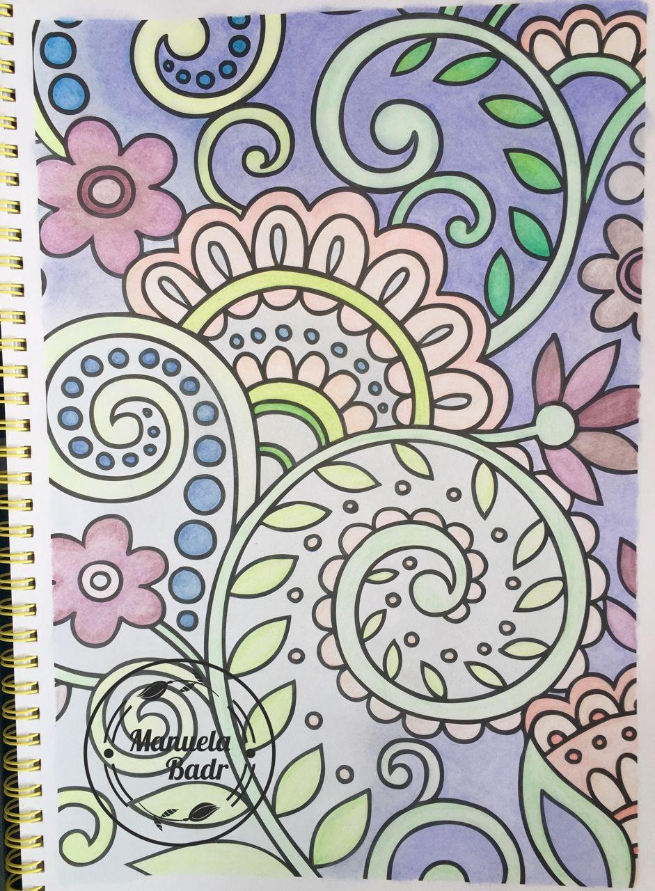 uit het inspireer kleurboek kruidvat gekleurd met cs