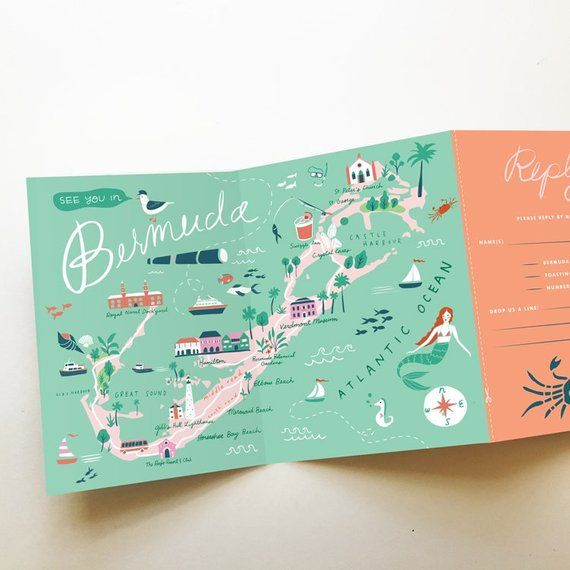 Wedding Invitations With Maps: Custom Listing For Danielle