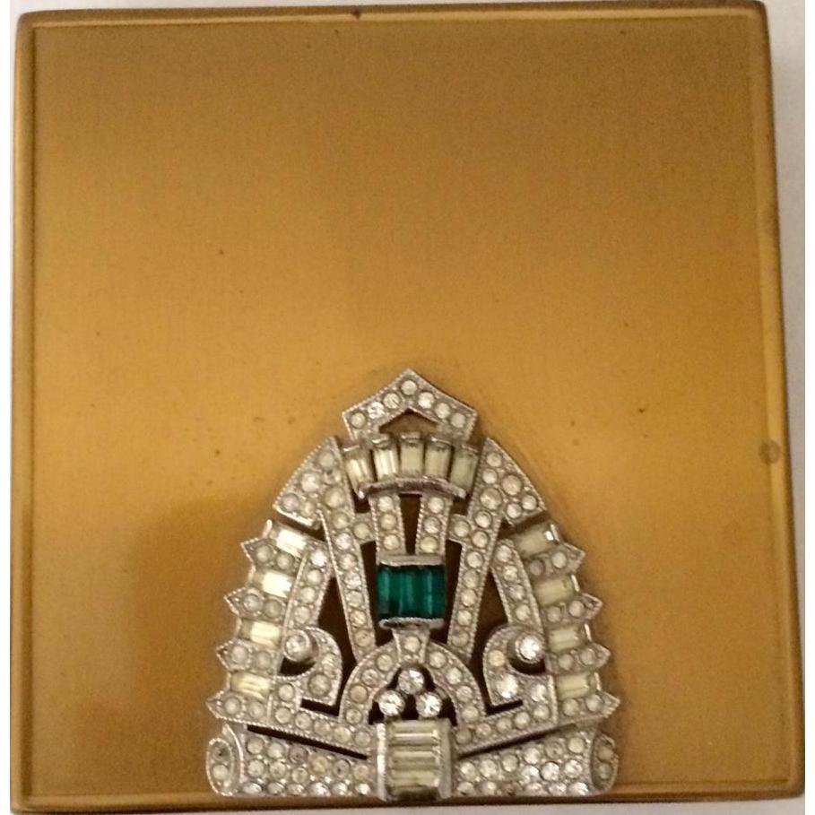 1930's Jeweled Compact